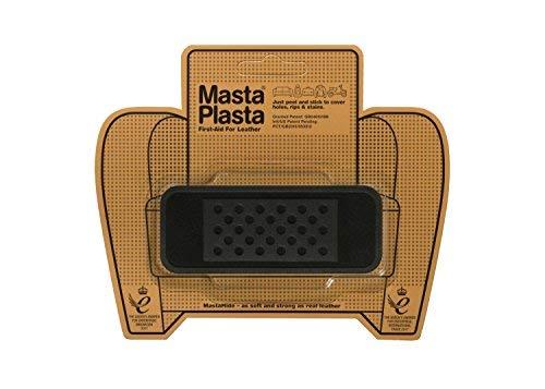 MastaPlasta Self-Adhesive Premium Leather Repair Patch, Bandage, Suede. Black - 4 x 1.5 Inch - First-aid for Sofas, car Seats & More