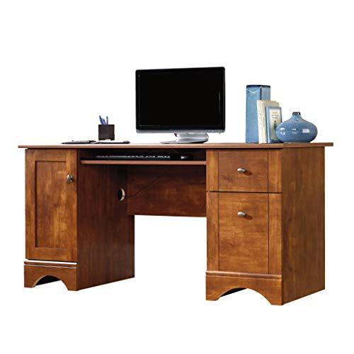 Sauder computer desk, brushed maple finish