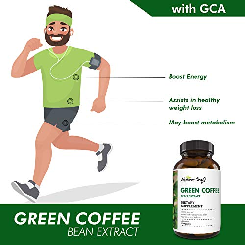 Natural Raw Green Coffee Bean Extract - Extra Strength Pure Premium Antioxidant Beans - 800 mg Max Fat Burner Supplement Super Cleanse Pills for Weight Loss Benefits Reviews 5