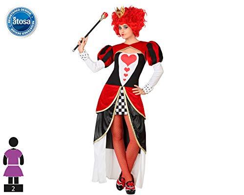 Atosa 26851 – Reine de cœur Femme Costume