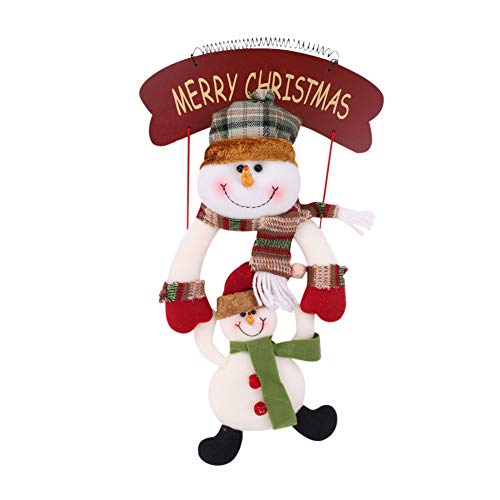 LONTG Christmas Door Wall Hanging Decoration Ornament Plaque Merry Christmas Hanging Sign Decoration Christmas Tree Hanging Ornament Santa Claus Doll Pendant Gift With Ball Hanging Decoration