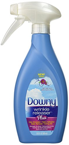 Downy Wrinkle Releaser Plus, Light Fresh Scent, 500ml New Trigger Spray Bottle, Wrinkle Remover + Odour Eliminator + Fabric Refresher + Static Remover + Ironing Aid, with New and Improved Sprayer for More Even Mist.