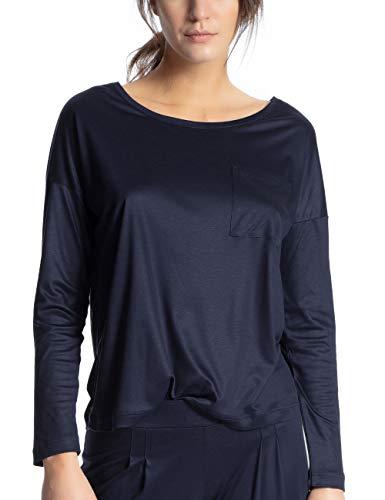 Calida Damen I Love Nature Schlafanzugoberteil, Blau (Dark Lapis Blue 339), Small (Herstellergröße: S)