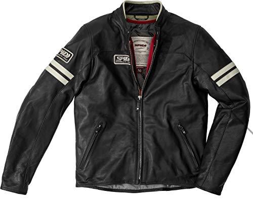 Spidi Vintage Motorrad Lederjacke Schwarz 56