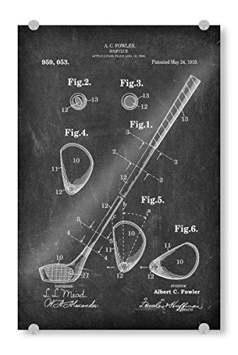 artboxONE Acrylglasbild 120x80 cm Sport Golfschläger patent (Tafel) - Bild golfschläger patent Golf