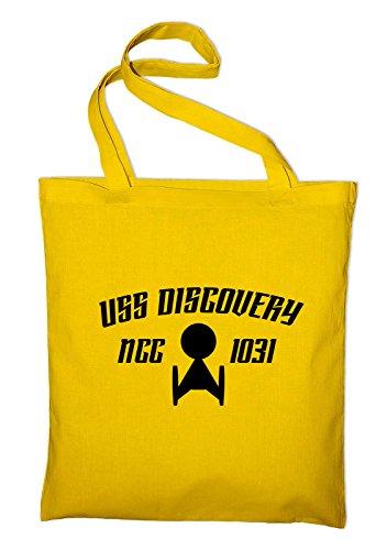 USS Discovery NCC 1031 Fan Jutebeutel Baumwolltasche TV Serie, gelb
