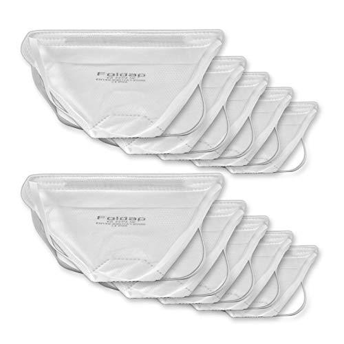 FFP2 Maske ohne Ventil ◆ Atemschutzmaske Staubmaske Mundschutzmaske ◆ CE 2163 EN149 zertifiziert ◆ 10 Stück - 6