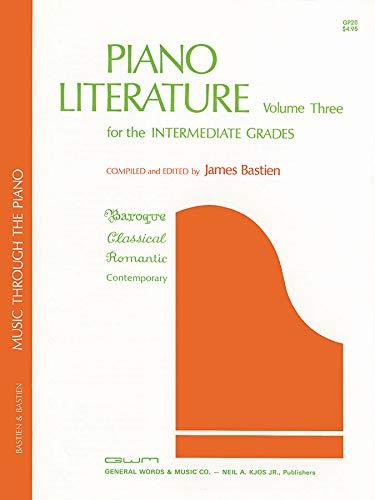 Bastien Piano Literature Volume 3: Intermediate Grades: Noten für Klavier (The Bastien Piano Library)