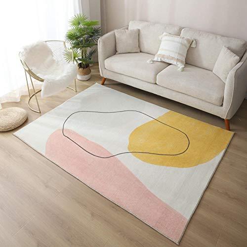 Alfombra Artificial de Cachemira, mullida y cómoda Almohadilla Decorativa Moderna para el hogar se Puede Lavar, Adecuado para sofá de Sala de Estar-5_80x160cm