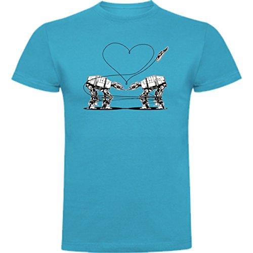 The Fan Tee Camiseta de San Valentin Amor Hombre 3XL Turquesa
