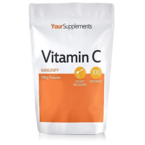 Your Supplements – Vitamin C Powder – 100g Ascorbic Acid – 100% Pure British Pharmaceutical Grade – Non-GMO