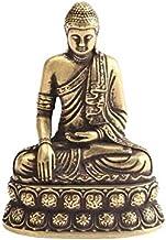 ZGPTX Retro Brass Buddha Sakyamuni Statue Mini Portable Pocket Sitting Buddha Sculpture Home Decor Office Desk Decorations...