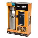 Stanley adulto Gift Set, Vaccum Bottle, 18/8in acciaio, Navy Blu Adventure Flask vuoto di bottiglie, Multicolore, Taglia unica