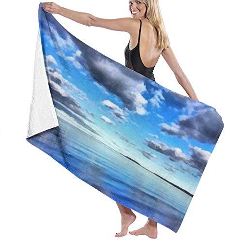 Tsjkwo Watercolor Art On Canvas Artistic Big Print Original Modern E Quick-Drying Beach Towel The Best Lightweight Bath Towel for Swimming Beach (32 x 52) inches