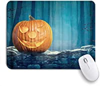Yaoni ゲーミング マウスパッド,ハロウィンのカボチャの木,マウスパッド レーザー&光学マウス対応 マウスパッド おしゃれ ゲームおよびオフィス用 滑り止め 防水 PC ラップトップ