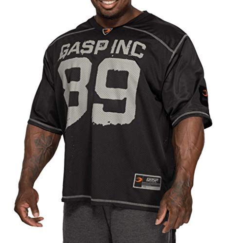 GASP No1 Football Tee Bodybuilding Jersey (XXL)