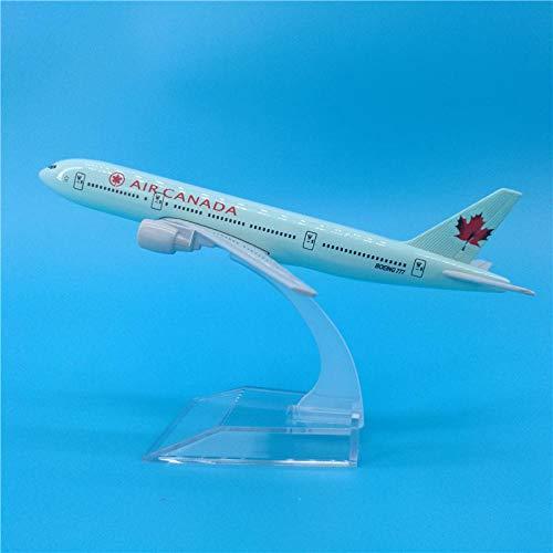 Magssdy Flugzeugmodell 16 cm Airbus Flugzeuge Flugzeug Modell Diecast Flugzeug Spielzeug Airliner Modell Kinder Geschenk-Air_Canada_B777