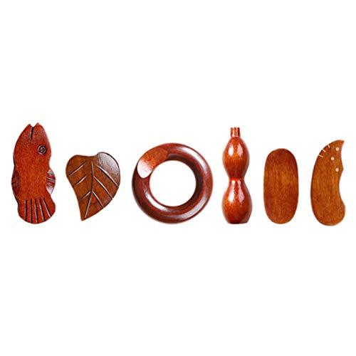 Hemoton 6 Unidades de Palillos de Madera Natural Reposa Forma Creativa de Vajilla Japonesa Soporte Almohada Cuchara Tenedor Cuchillo Sostenedor de Servicio de Cena para Restaurante en