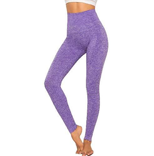 Ducomi Ada Leggings para Mujer, Leggings de Cintura Alta - Ropa Deportiva para el Hogar y el Gimnasio - Pantalones de Compresión Elásticos para Niña para Yoga, Pilates y Gimnasia (Morado, M)