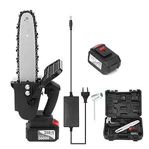 Kecheer Motosierra de podar bateria 21V,Sierra de podar a bateria electrica,Motosierras de poda para jardinería