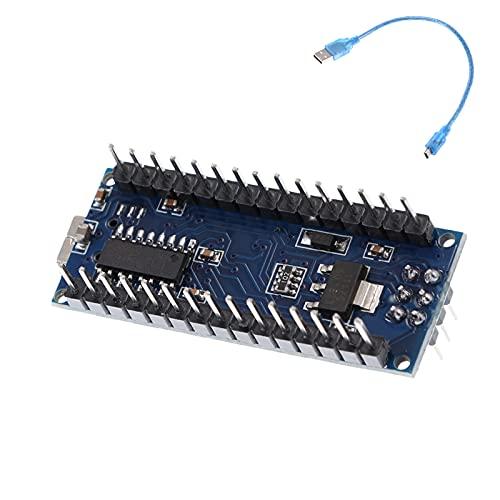 Wowlela Micro Controlador de Controlador FR-4 MÓROCOTROLLER MÓDULO ATMEGA328P Tablero de Desarrollo Micro V3.0 Módulo de expansión CH340 FIP USB con Cable USB
