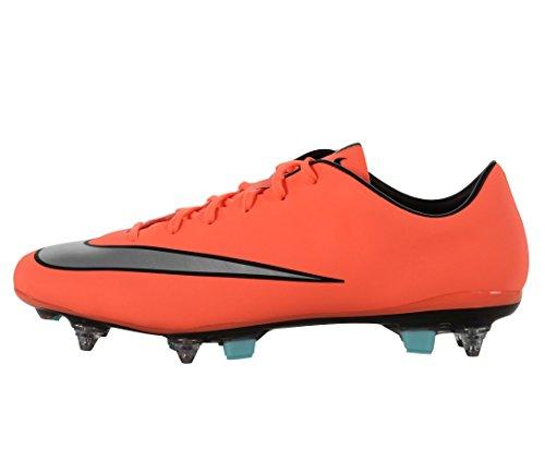Nike Mercurial Veloce II SG-Pro, Botas de fútbol Hombre, Amarillo/Plateado/Verde (Brght MNG/Mtllc Slvr-Hypr TRQ), 42