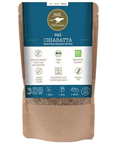 eat Performance® Chiabatta Brotbackmischung (250g) - Bio, Paleo, Vegan, Glutenfreies Brot Aus 100% Natürliche Zutaten