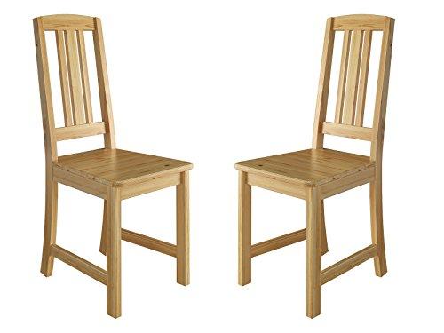 Erst-Holz® Küchenstuhl Massivholzstuhl Esszimmerstuhl Kiefer Stühle 90.71-22-D
