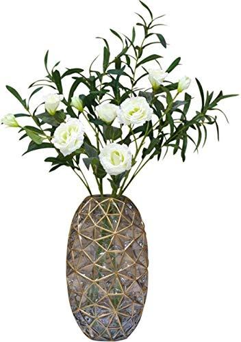 Vintage Europese Glazen bloemenvazen / Gedroogde Bloemstuk for Home/Hotel/Office Decoratie zonder bloemen