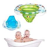 Flotadores de anillo de natación para bebé con asiento de seguridad doble airbag, flotadores inflables para niños para entrenamiento de natación en la piscina.