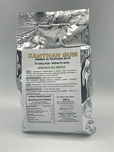 GOMMA DI XANTANO 200 G (2 X 100 G) - ADDENSANTE NATURALE E415 | PER IMPASTI, SALSE E GELATI IN ALIMENTAZIONI PRIVE DI GLUTINE O CHETOGENICHE