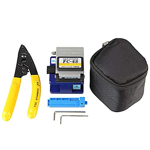 FTTH Kit de herramientas de fibra 3 en 1 con FC-6S Fibra...