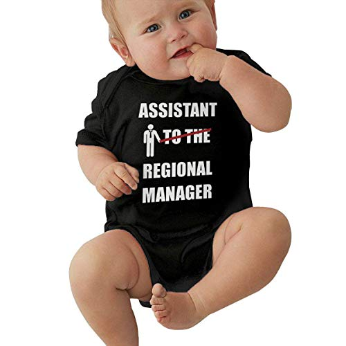 Lplpol Asistente de la Regional Manager de Algodón de Manga Corta Mono Mono para Unisex Bebé Niñas Niñas Ne019