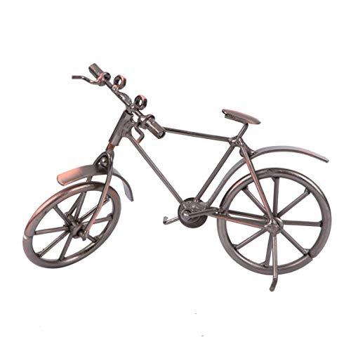 Hzkj-lym Desktop Crafts Fahrrad-Modell Crafts Retro Metall Kreative Eisen Fahrrad-Mold Old Bike Dekor Iron Bike Modell for Einrichtung