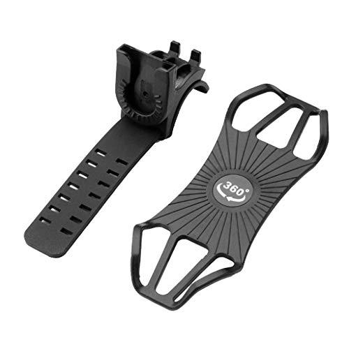 Yasu7 - Soporte universal para teléfono de bicicleta, soporte de silicona para manillar de bicicleta ajustable para smartphones