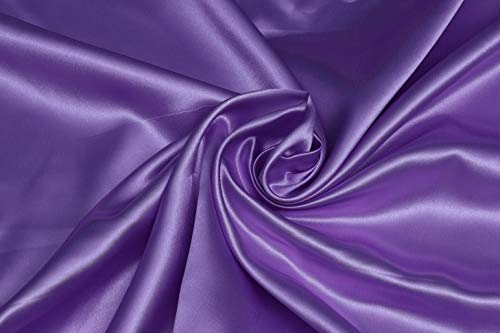 """5 Yard 44"""" inch Wide - Lightweight Sateen Soft Fabric for Bridal Dress, Voile Crafts Fashion Items, Wedding Gown, Crafting, Banquet & Party Decoration Silky Shiny Satin 