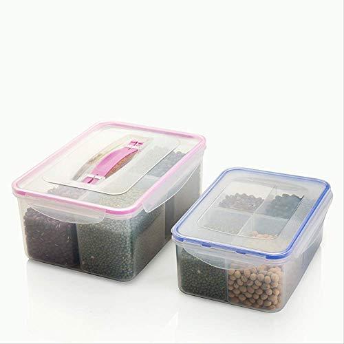 Set di 3 contenitori per alimenti, contenitori per cereali, contenitori per alimenti secchi separati, non tossici, freschi, organizzati, in silicone spesso sigillato, portatile, comodo da cucina