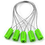 Leadseals(R) 500 Green Numbered Security Cable Seals Tamper Proof Metal Wire Safety Shippi...
