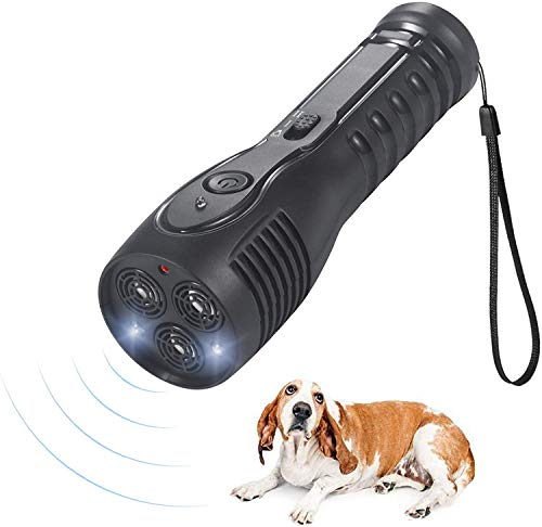 Wham Moon 3 in 1 Handheld Ultrasonic Dog Repeller and Trainer with LED Anti Barking Stop Bark Handheld Dog Training...