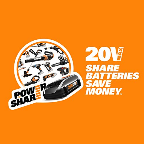 WORX WG320 JawSaw 20V PowerShare Cordless Electric Chainsaw with Auto-Tension (Renewed)