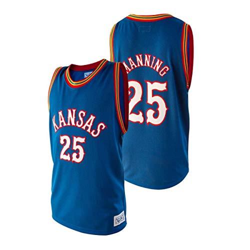 Kansas Jayhawks Danny Manning #25 Retro Brand Authentic Basketball Jersey (L)