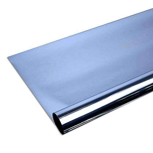 Solar Screen 6,57€/m² Fenster Folien Set Selbstklebende Spiegelfolie Blue 152cm Breite Folie Fensterfolie