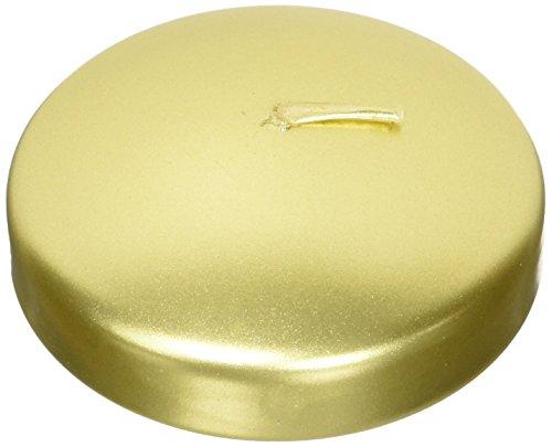 """Mega Candles - Unscented 3"""" Floating Candles - Gold, Set of 12"""