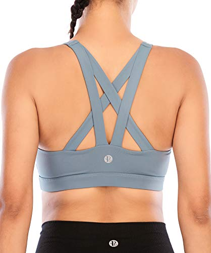 (32% OFF) Criss-Cross Back Padded Strappy Sports Bra $12.91 Deal