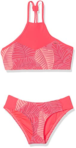 O'Neill Mädchen PG High Neck Bikini Set, Pink All Over Print, 152