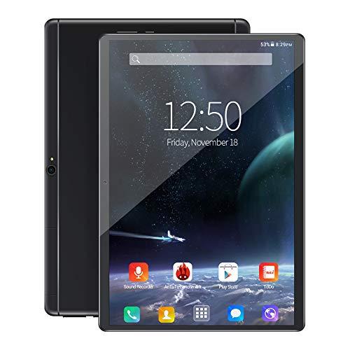 TGHY Tableta Android 10 Pulgadas, Celular + WiFi, 2GB RAM 32GB ROM, Cámara 8MP, Procesador Octa-Core, Pantalla IPS HD 1280x800, Bluetooth, GPS, Batería 4000mAh,Negro
