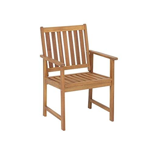 greemotion Borkum sillón de jardín, Marrón, 58 x 60 x 90 cm