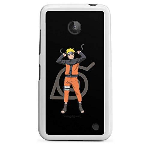 DeinDesign Silikon Hülle kompatibel mit Nokia Lumia 630 Dual SIM Hülle weiß Handyhülle Naruto Shippuden Offizielles Lizenzprodukt Animeserie