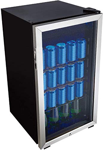 117 Can Center, 3.1 Cu.Ft. Freestanding Beverage Refrigerator for, Basement, Dining, Living Room-Bar Fridge Perfect for Beer, Pop, Water