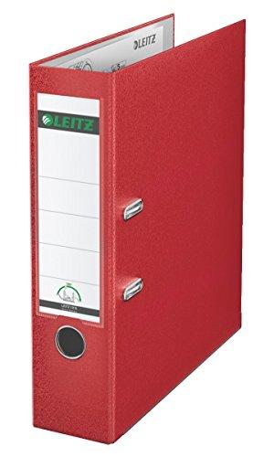 Leitz Qualitäts-Ordner, Plastik-Cover, A4, 8 cm Rückenbreite, Rot, 10105025